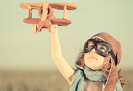 Boy Flying Plane